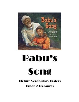 Babu's Song Picture Vocabulary Posters Grade 2 Treasures