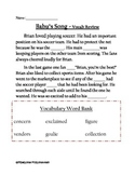 Babu's Song - Vocabulary in Context Review - 2nd Grade