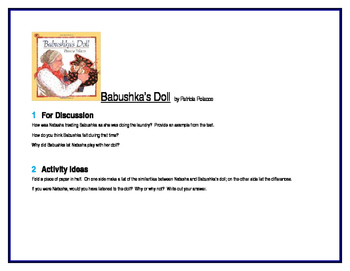 Babushka's Doll for Literature Circles