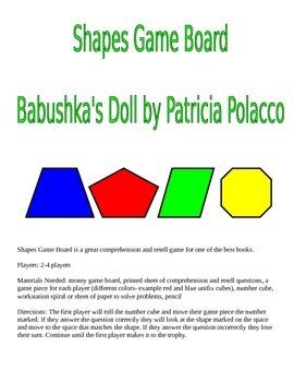 Babushka's Doll by Patricia Polacco Game Board with Shapes