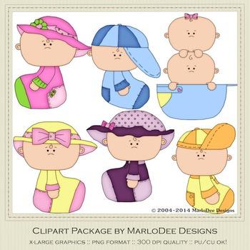 Baby 2 Clip Art Graphics Set 1