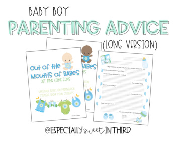Baby Advice Book - Baby Boy