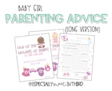Baby Advice Book - Baby Girl