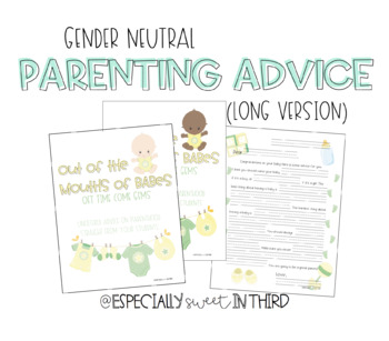 Baby Advice Book - Gender Neutral