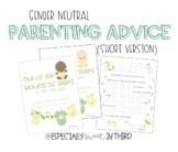 Baby Advice Book - Gender Neutral (Younger Students)