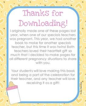 Baby Advice Book for Teacher