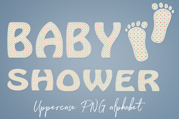 Baby Alphabet Clipart, Cute Letters, PNG Alphabet Letters, Baby Party