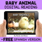 Baby Animal Reading Comprehension for Google Classroom