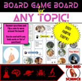Baby Animal Theme Game Board for ANY TOPIC!