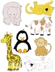 Baby Animals 1 Clip Art: 30 PNGs