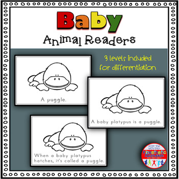 Baby Animals - A Differentiated Set of Emergent Readers