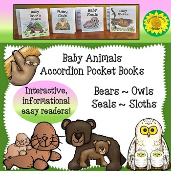 Baby Animals Accordion Pocket Books (Informational Text)