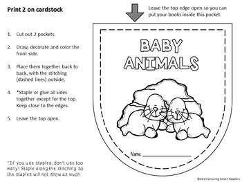 Baby Animals Accordion Pocket Books (Informational Text)