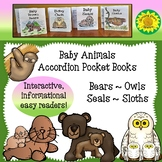 Free! Set of 4 Baby Animals Accordion Books (Informational Text)