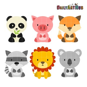 Baby Animals Clip Art - Great for Art Class Projects!