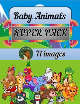 Baby Animals Clip Art SUPER PACK