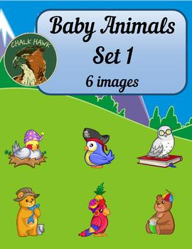 Baby Animals Clip Art Set 1