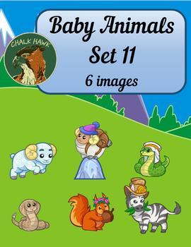 Baby Animals Clip Art Set 11