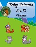 Baby Animals Clip Art Set 12
