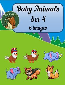Baby Animals Clip Art Set 4