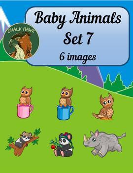 Baby Animals Clip Art Set 7