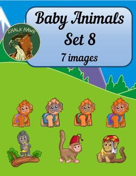 Baby Animals Clip Art Set 8