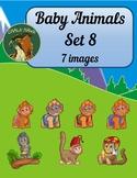 Baby Animals Clip Art Set 8