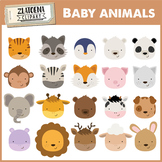 Baby Animals Clip art {Zlatoena Cliparts}