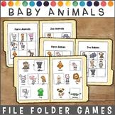 Baby Animals File Folder Games