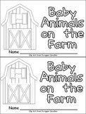 Baby Animals on the Farm Emergent Reader for Kindergarten