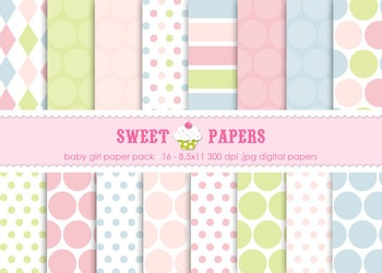 Baby Baby Digital Paper Pack - by Sweet Papers