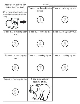 Eric Carle Sequencing Text Activity: Baby Bear, Baby Bear, What Do You See?