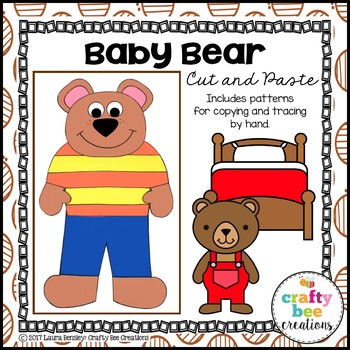 Baby Bear Cut and Paste