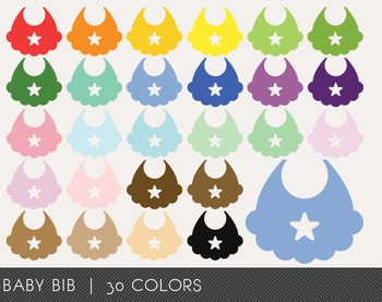 Baby Bib Digital Clipart, Baby Bib Graphics, Baby Bib PNG