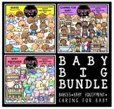 Baby Big Clip Art Bundle {Educlips Clipart}