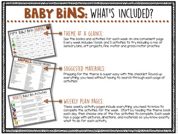Baby Bins: Animals {Plans and Printables}