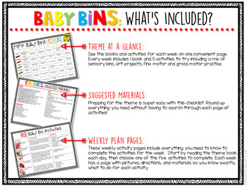 Baby Bins: Early Learning Curriculum {Plans and Printables} BUNDLE