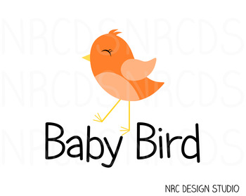 Baby Bird SVG Cutting File - Commercial Use SVG, DXF, EPS, png