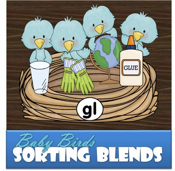 Blue Birds Sorting Blends Activity