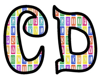 Baby Block Alphabet Bulletin Board Letters