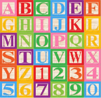 Baby Blocks Alphabet Clip Art - Commercial and Personal