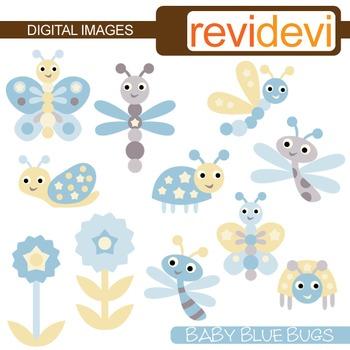 Baby Blue Bugs Clip art