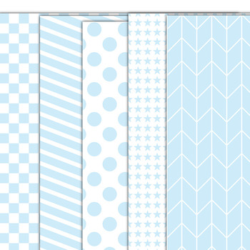 Baby Blue  Digital Paper Pack for Personal or Commercial Use CU Okay