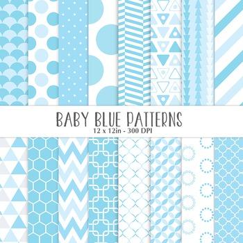 Baby Blue Geometric Pattern