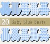 Baby Blue Teddy Bear Cliparts