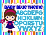Baby Blue clip art set (100 images of Alphabet, Numbers an