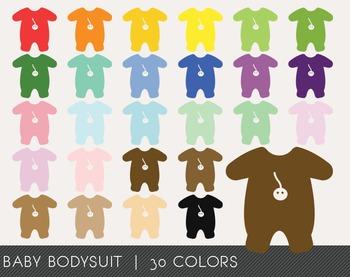 Baby Bodysuit Digital Clipart, Baby Bodysuit Graphics, Bab