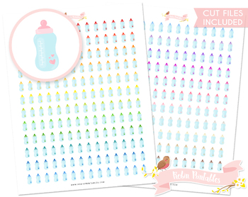 Baby Bottle Printable Planner Stickers