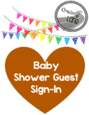 Baby Shower- Bear Theme Guest Sign-In Page PDF
