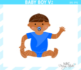 African American baby boy clipart commercial use